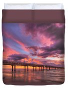 Port Aransas Texas Sunrise 25 Duvet Cover