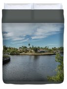 Port Charlotte Adhenry Waterway From Midway Duvet Cover