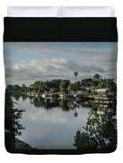 Port Charlotte Elkham Waterway From Tamiami Duvet Cover