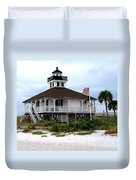 Port Charlotte Harbor Lighthouse Duvet Cover