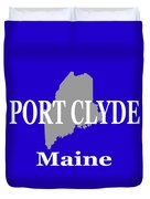 Port Clyde Maine State City And Town Pride  Duvet Cover
