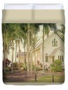 Port Douglas Beach Chapel Duvet Cover