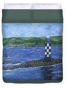 Port Glasgow, Perch Lighthouse Duvet Cover