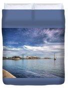 Port Melbourne Harbour Duvet Cover