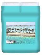 Port Of Miami - Miami, Florida Duvet Cover