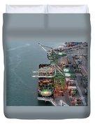 Port Of Oakland Aerial Photo Duvet Cover
