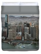 Port Of San Francisco And Downtown Financial District Duvet Cover
