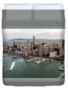 Port Of San Francisco And Downtown Financial Districtport Of San Francisco And Downtown Financial Di Duvet Cover