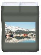 Port Of Seward Alaska  Duvet Cover