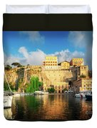 Port Of Sorrento, Southern Italy Duvet Cover
