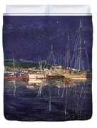 Marina Evening Reflections Duvet Cover