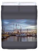 Port Royal Shrimp Boats Duvet Cover