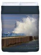 Port Sanilac Harbor Duvet Cover by Kathy DesJardins