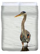 Port Townsend Blue Heron Duvet Cover