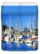 Port Townsend Harbor Duvet Cover