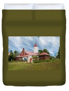 Portage River - Jacobsville - Lighthouse Duvet Cover