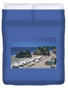 Portimao Beach Duvet Cover