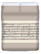 Portion Of The Manuscript Of Beethoven's Sonata In A, Opus 101 Duvet Cover