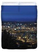 Portland At Dusk Duvet Cover