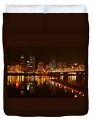 Portland At Night Duvet Cover