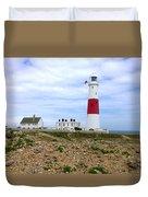 Portland Bill Lighthouse Duvet Cover