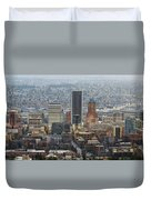 Portland City Downtown Cityscape Panorama Duvet Cover