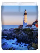 Portland Head Light II Duvet Cover