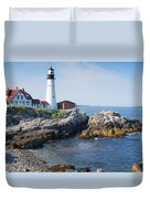 Portland Head Lighthouse Portland Me Duvet Cover