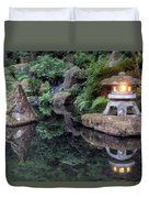 Portland Japanese Garden At Twilight Duvet Cover