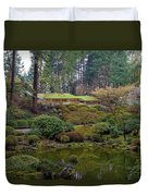 Portland Japanese Garden By The Lake Duvet Cover