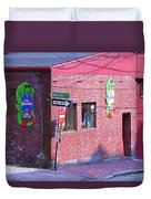 Portland Maine - Wharf Street Duvet Cover