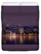 Portland Night Skyline Duvet Cover