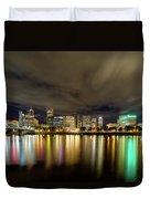 Portland Nightscape Duvet Cover