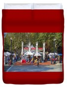 Portland Saturday Market Duvet Cover