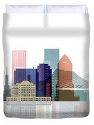 Portland Skyline Duvet Cover