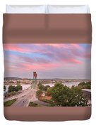 Portland Waterfront Hawthorne Bridge At Sunset Duvet Cover