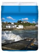 Portmellon In Winter Duvet Cover