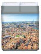 Porto Aerial Portugal Duvet Cover