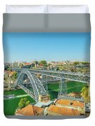 Porto Bridge Skyline Duvet Cover
