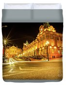Porto City By Night Duvet Cover