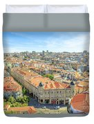Porto Historic Center Aerial Duvet Cover