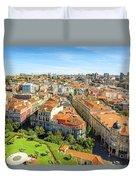 Porto Panorama Skyline Duvet Cover