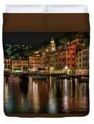 Portofino Bay By Night II - Notte Sulla Baia Di Portofino II Duvet Cover