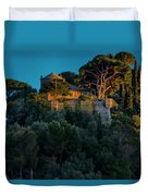 Portofino Bay By Night Vi - Castello Brown Duvet Cover