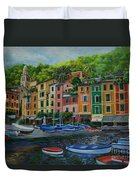 Portofino Harbor Duvet Cover