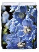 Portrait Blue Delphinium 114 Duvet Cover