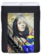 Portrait By The Back Stair Duvet Cover