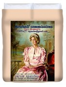 Portrait Commissions By Portrait Artist Carole Spandau Duvet Cover