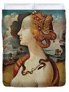 Portrait De Femme Dit De Simonetta Vespucci Duvet Cover