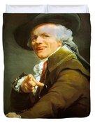 Portrait De L Artiste Sous Les Traits D Un Moqueur 1793 Duvet Cover